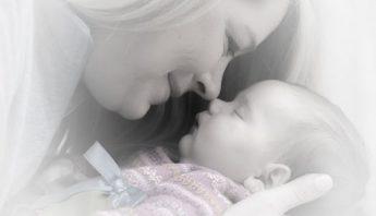 mum and baby close